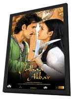 Jodhaa Akbar - 11 x 17 Movie Poster - India Style B - in Deluxe Wood Frame