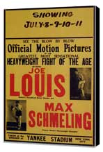 Joe Louis and Max Schmeling - 11 x 17 Movie Poster - Style A - Museum Wrapped Canvas