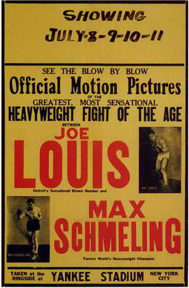 Joe Louis and Max Schmeling - 11 x 17 Movie Poster - Style A