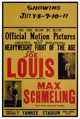Joe Louis and Max Schmeling - 27 x 40 Movie Poster - Style A