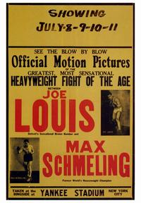 Joe Louis and Max Schmeling - 43 x 62 Movie Poster - Bus Shelter Style A