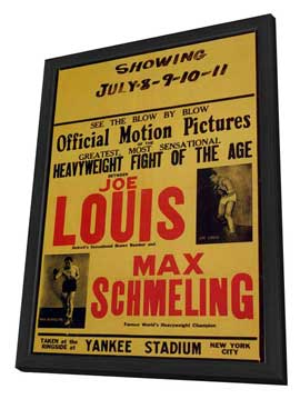 Joe Louis and Max Schmeling - 11 x 17 Movie Poster - Style A - in Deluxe Wood Frame