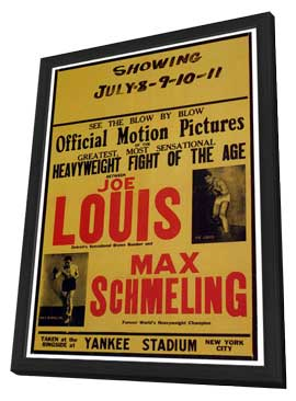 Joe Louis and Max Schmeling - 27 x 40 Movie Poster - Style A - in Deluxe Wood Frame