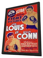 Joe Louis vs. Billy Conn - 11 x 17 Movie Poster - Style A - in Deluxe Wood Frame
