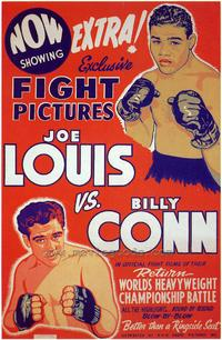 Joe Louis vs. Billy Conn - 43 x 62 Movie Poster - Bus Shelter Style A