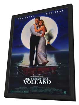 Joe Versus The Volcano - 27 x 40 Movie Poster - Style A - in Deluxe Wood Frame