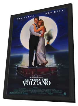 Joe Versus The Volcano - 11 x 17 Movie Poster - Style A - in Deluxe Wood Frame