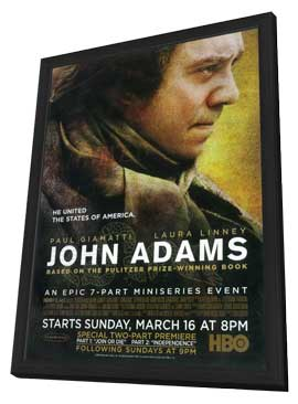 John Adams - 27 x 40 Movie Poster - Style A - in Deluxe Wood Frame