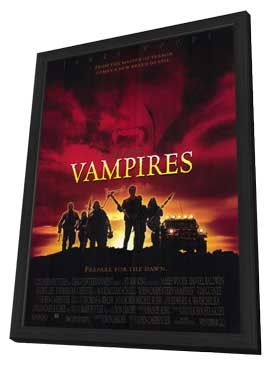 John Carpenter's Vampires - 11 x 17 Movie Poster - Style A - in Deluxe Wood Frame