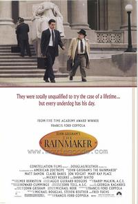 John Grisham's The Rainmaker - 43 x 62 Movie Poster - Bus Shelter Style A