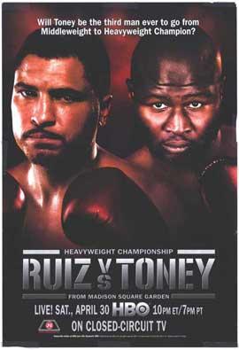 John Ruiz vs. James Toney - 11 x 17 Boxing Promo Poster - Style A