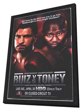 John Ruiz vs. James Toney - 11 x 17 Boxing Promo Poster - Style A - in Deluxe Wood Frame