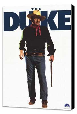 John Wayne - 11 x 17 Movie Poster - Style B - Museum Wrapped Canvas
