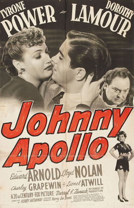 Johnny Apollo - 27 x 40 Movie Poster - Style B