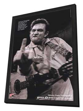 Johnny Cash - 11 x 17 Movie Poster - Style C - in Deluxe Wood Frame
