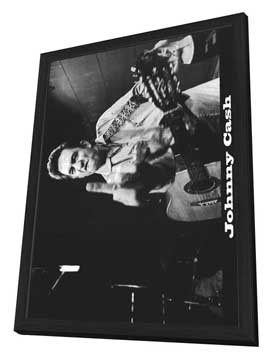 Johnny Cash - 27 x 40 Movie Poster - Style B - in Deluxe Wood Frame