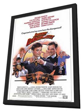 Johnny Dangerously - 27 x 40 Movie Poster - Style A - in Deluxe Wood Frame