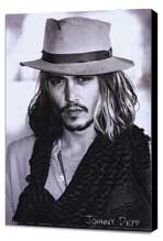 Johnny Depp - 27 x 40 Movie Poster - Style B - Museum Wrapped Canvas