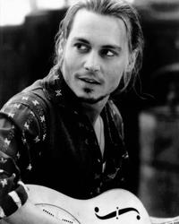 Johnny Depp - 8 x 10 B&W Photo #1