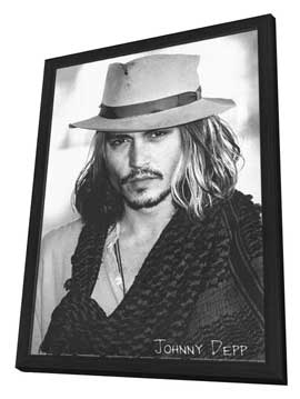Johnny Depp - 11 x 17 Movie Poster - Style B - in Deluxe Wood Frame