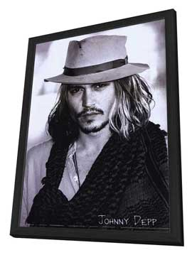 Johnny Depp - 27 x 40 Movie Poster - Style B - in Deluxe Wood Frame