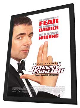Johnny English - 11 x 17 Movie Poster - Style A - in Deluxe Wood Frame