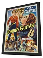 Johnny Guitar - 27 x 40 Movie Poster - Belgian Style A - in Deluxe Wood Frame