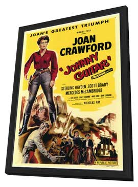 Johnny Guitar - 11 x 17 Movie Poster - Style A - in Deluxe Wood Frame
