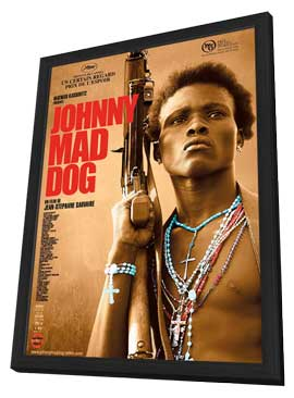 Johnny Mad Dog - 11 x 17 Movie Poster - French Style A - in Deluxe Wood Frame
