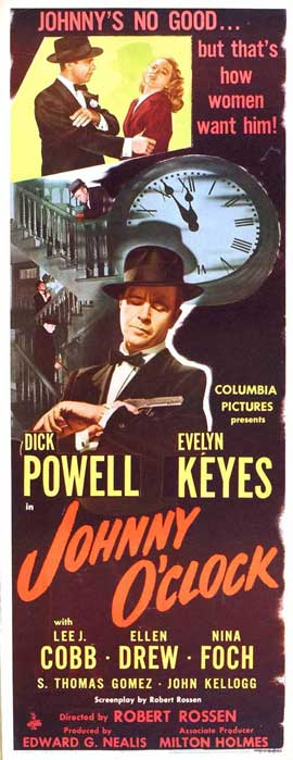 Johnny O Clock - 14 x 36 Movie Poster - Insert Style A