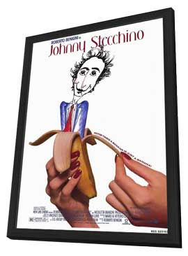 Johnny Stecchino - 11 x 17 Movie Poster - Style A - in Deluxe Wood Frame
