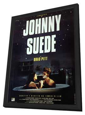 Johnny Suede - 11 x 17 Movie Poster - Italian Style A - in Deluxe Wood Frame