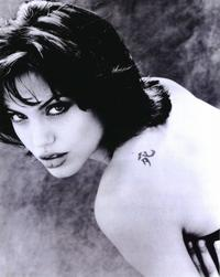 Angelina Jolie - 8 x 10 B&W Photo #1