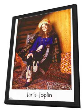 Janis Joplin - 11 x 17 Movie Poster - Style A - in Deluxe Wood Frame
