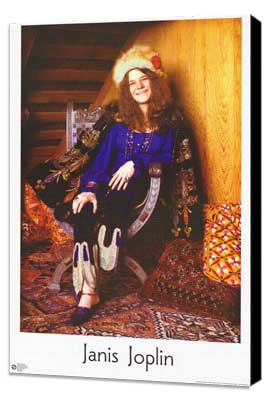 Janis Joplin - 11 x 17 Movie Poster - Style A - Museum Wrapped Canvas