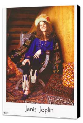 Janis Joplin - 27 x 40 Movie Poster - Style A - Museum Wrapped Canvas