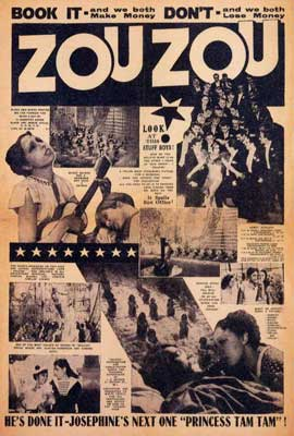 Josephine Baker - 27 x 40 Movie Poster - Style B
