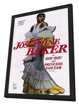 Josephine Baker - 11 x 17 Movie Poster - Style A - in Deluxe Wood Frame