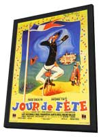 Jour de Fete - 11 x 17 Movie Poster - French Style B - in Deluxe Wood Frame