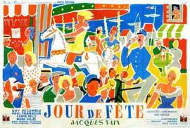 Jour de Fete - 11 x 17 Movie Poster - French Style D