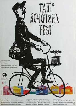 Jour de Fete - 11 x 17 Movie Poster - German Style A