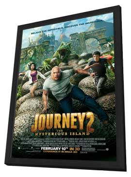 Journey 2: The Mysterious Island - 11 x 17 Movie Poster - Style A - in Deluxe Wood Frame