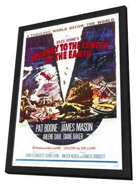 Journey to the Center of the Earth - 27 x 40 Movie Poster - Style A - in Deluxe Wood Frame