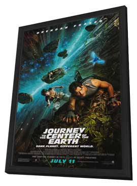 Journey to the Center of the Earth - 27 x 40 Movie Poster - Style B - in Deluxe Wood Frame