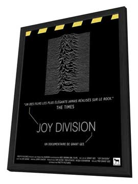 Joy Division - 11 x 17 Movie Poster - French Style A - in Deluxe Wood Frame