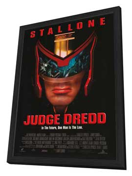 Judge Dredd - 27 x 40 Movie Poster - Style B - in Deluxe Wood Frame