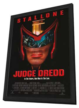 Judge Dredd - 11 x 17 Movie Poster - Style C - in Deluxe Wood Frame