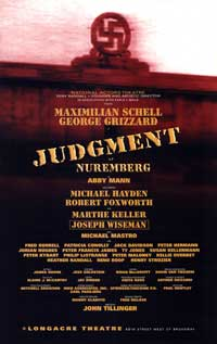 Judgment at Nuremberg (Broadway) - 27 x 40 Poster - Style A