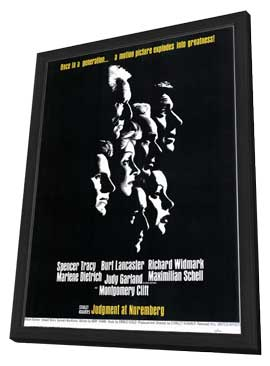 Judgment at Nuremberg - 11 x 17 Movie Poster - Style A - in Deluxe Wood Frame