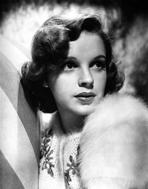 Judy Garland - Judy Garland up close portrait with fur